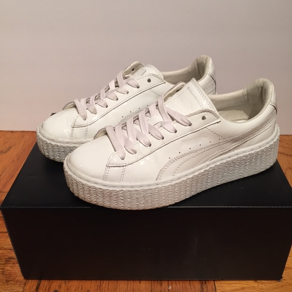 quality design 62b87 611f7 Puma Fenty Creeper White Patent Leather Rihanna